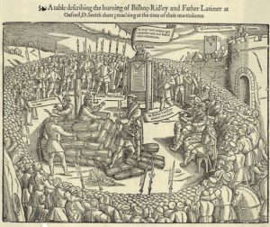 The burning of Latimer and Ridley at Oxford